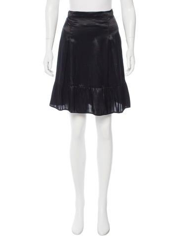 miu miu satin a line skirt clothing miu47067 the