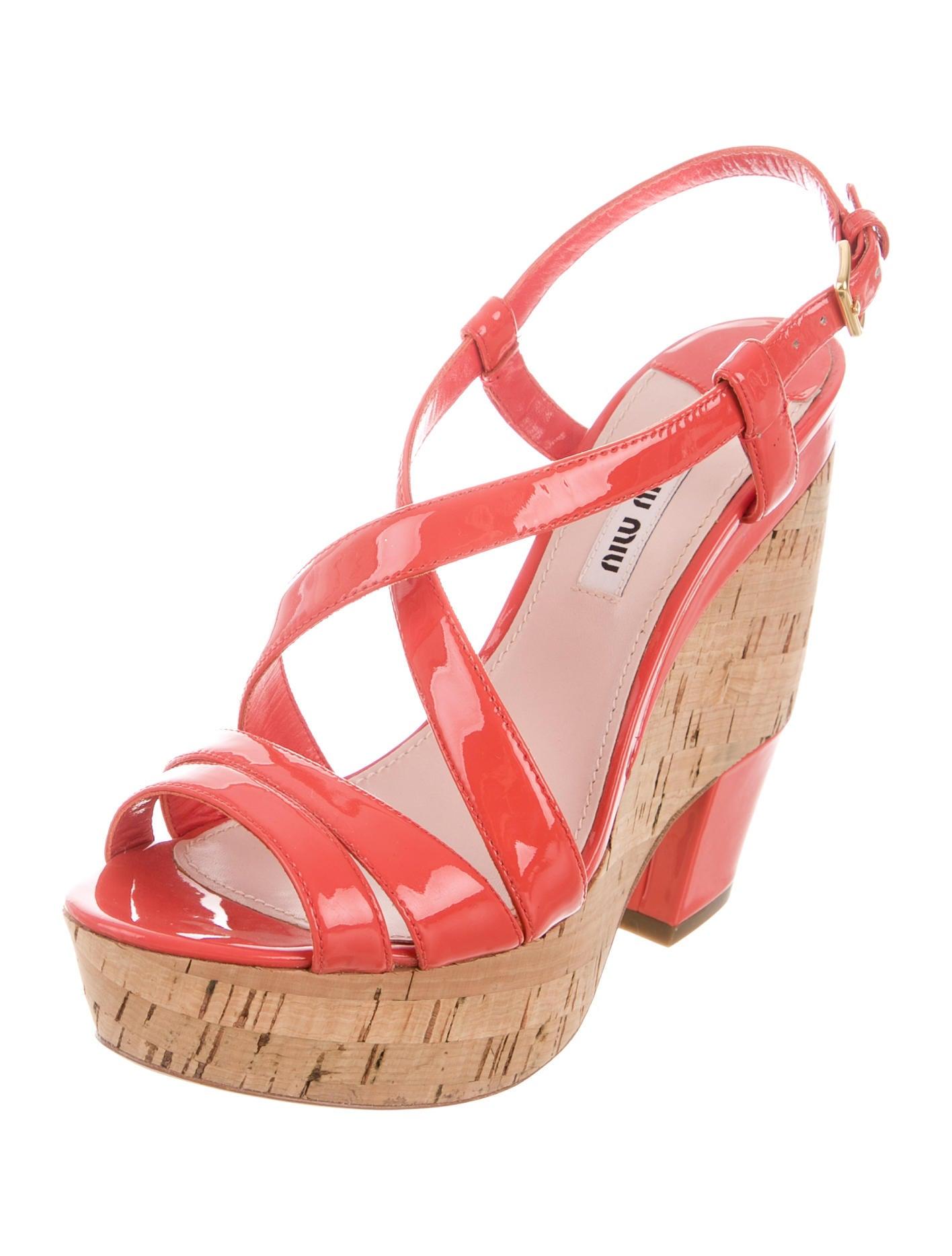 miu miu multi platform sandals shoes miu47197