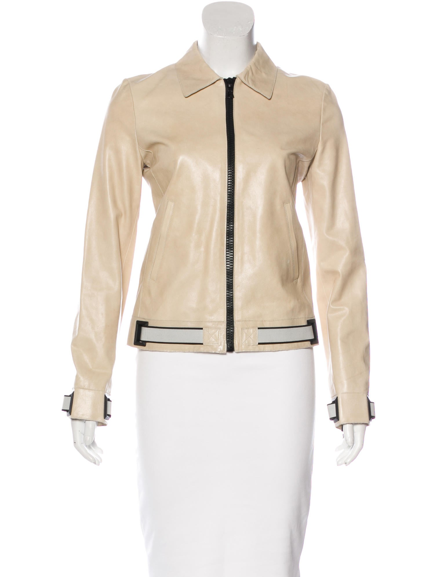 miu miu leather belted jacket clothing miu47306 the