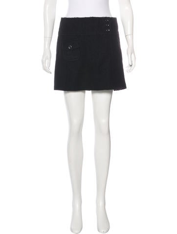 Miu Miu Virgin Wool Knit Skirt None