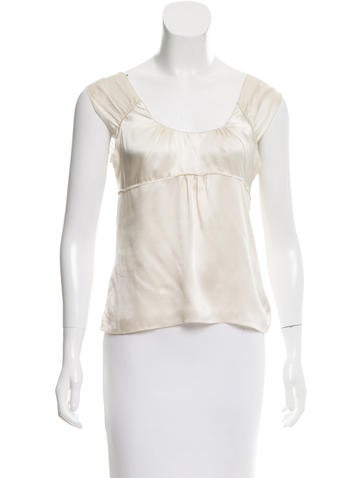 Miu Miu Semi-Sheer Silk Top None