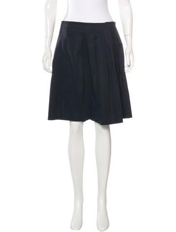 Miu Miu Pleated A-Line Skirt None