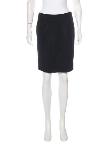 Miu Miu Pleated Knee-Length Skirt None