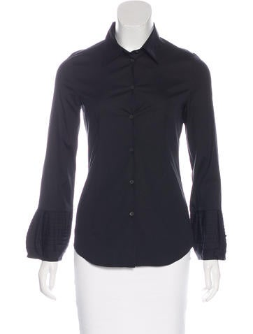 Miu Miu Collared Button-Up Top None