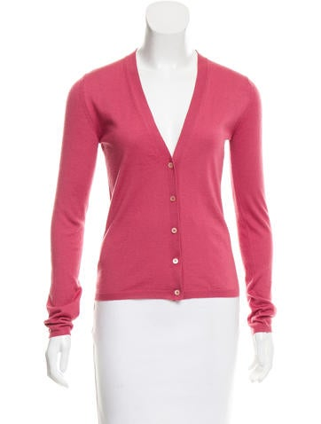 Miu Miu Cashmere & Silk-Blend Cardigan None