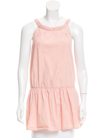 Miu Miu Pleated Sleeveless Top None
