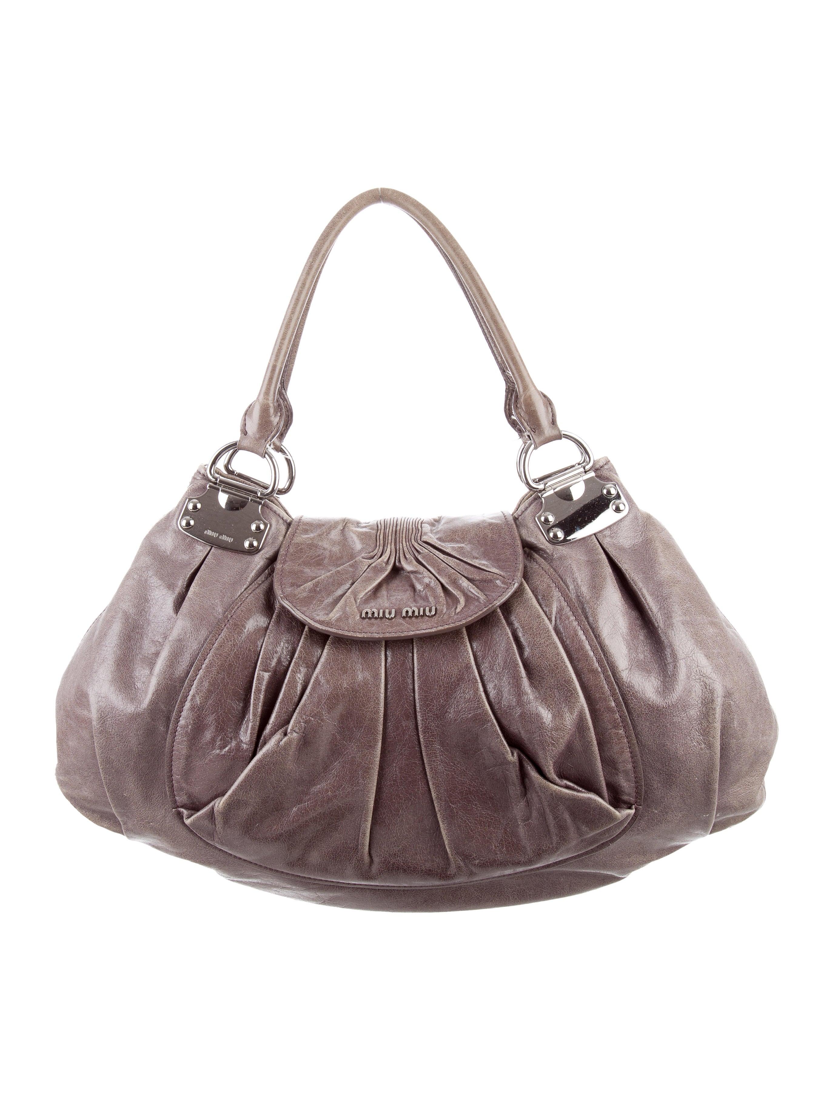 a62051d4015 Miu Miu Nappa Antik Shoulder Bag - Handbags - MIU48950