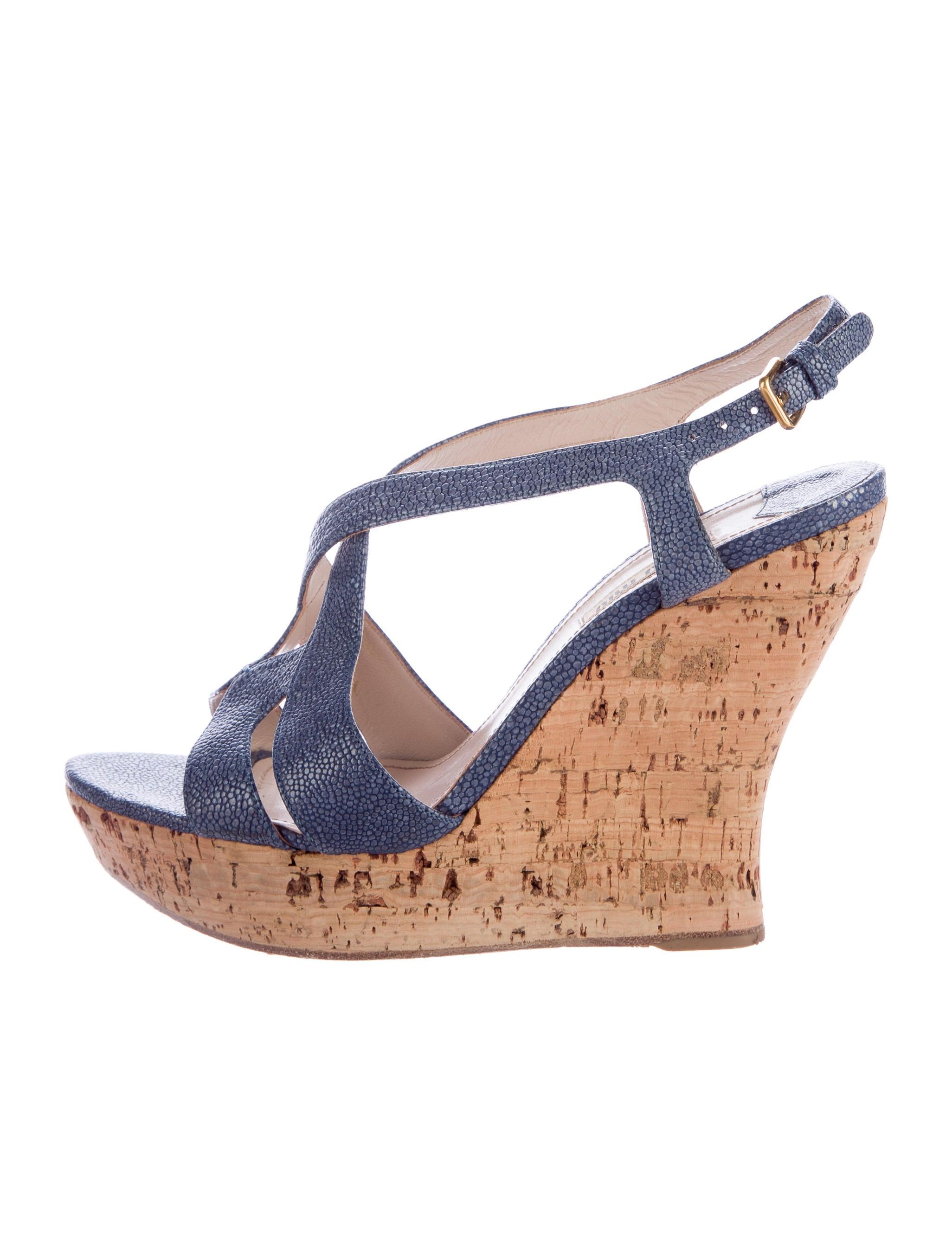 Miu Miu Stingray Wedge Sandals buy cheap websites jLt8qypMt