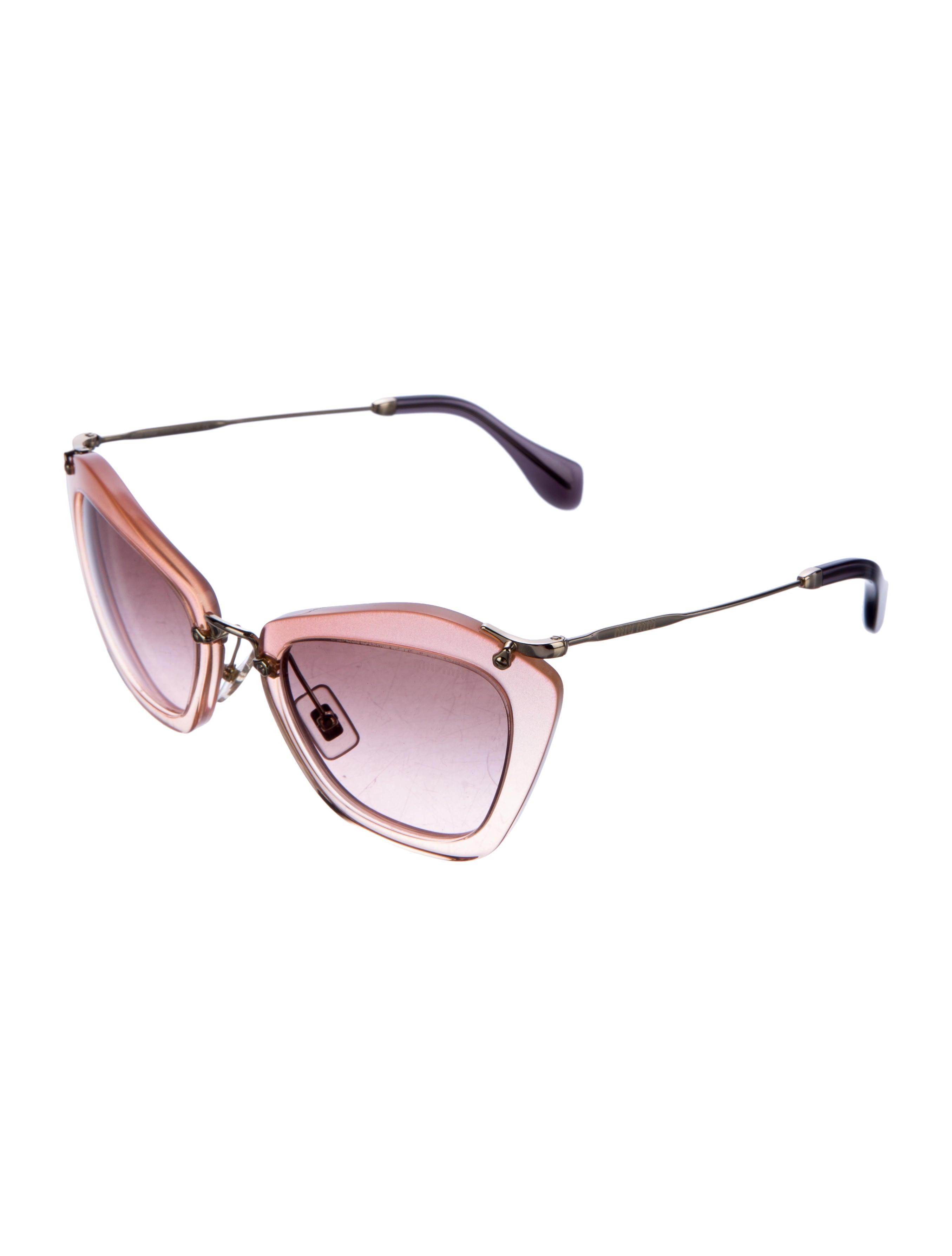 0f135de69c Miu Miu Sunglasses Cat Eye Glitter