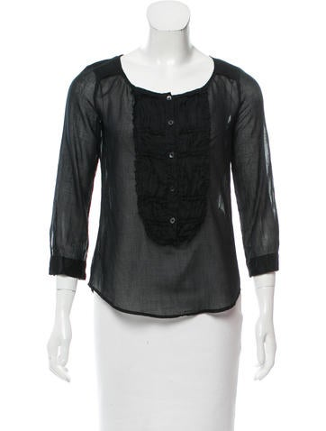 Miu Miu Gathered Scoop Neck Top None