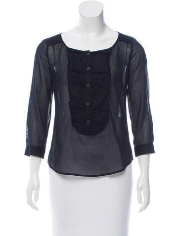 Miu Miu Lightweight Button-Up Top None