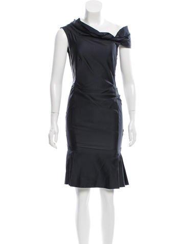 Miu Miu Silk Off-The-Shoulder Dress None