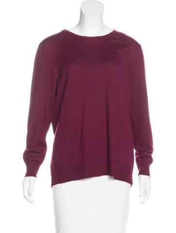 Miu Miu Long Sleeve Crew Neck Sweater None