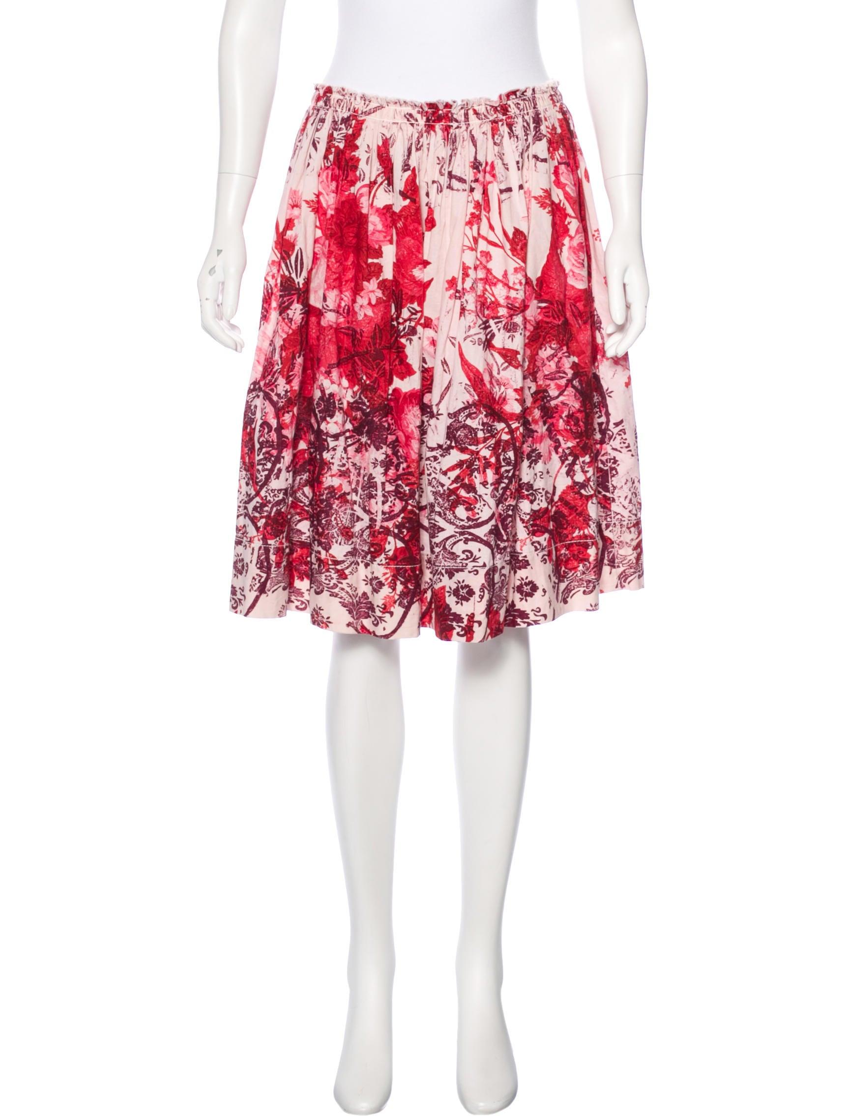 miu miu printed a line skirt skirts miu49882 the
