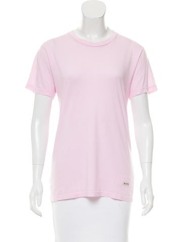 Miu Miu Short Sleeve Crew Neck Top None