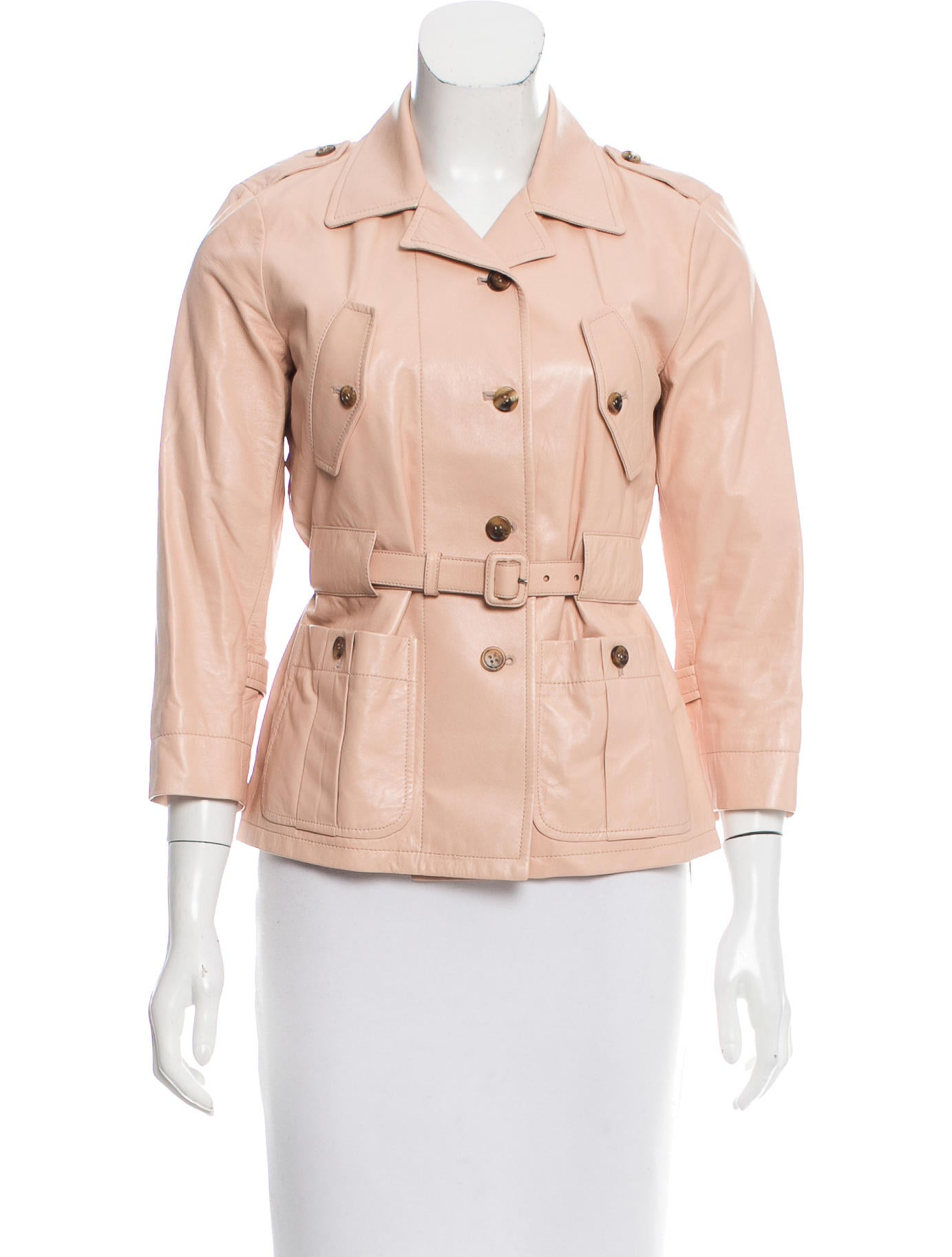 miu miu leather belted jacket clothing miu50010 the