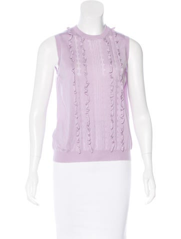 Miu Miu Sleeveless Cashmere Top None