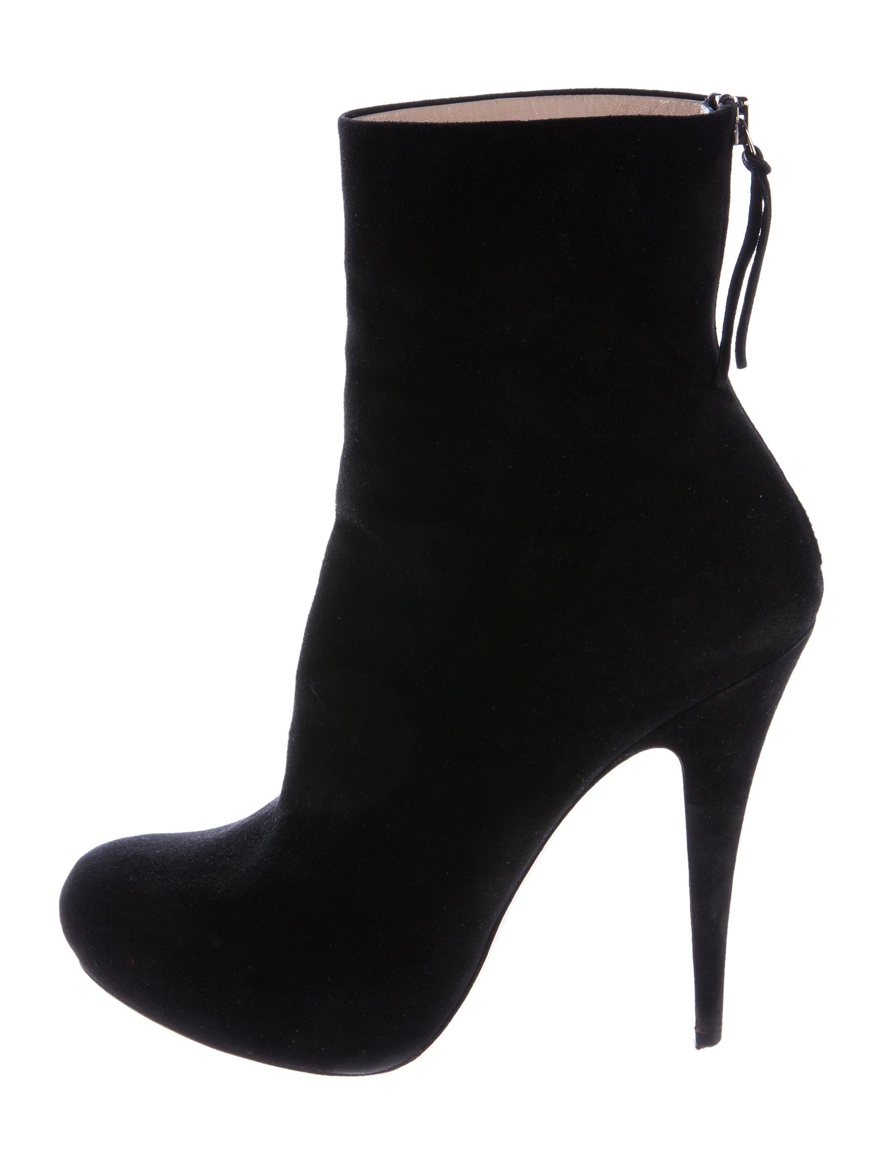 miu miu suede platform ankle boots shoes miu50222
