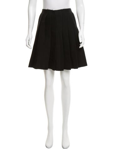 Miu Miu Pleated Wool Skirt None