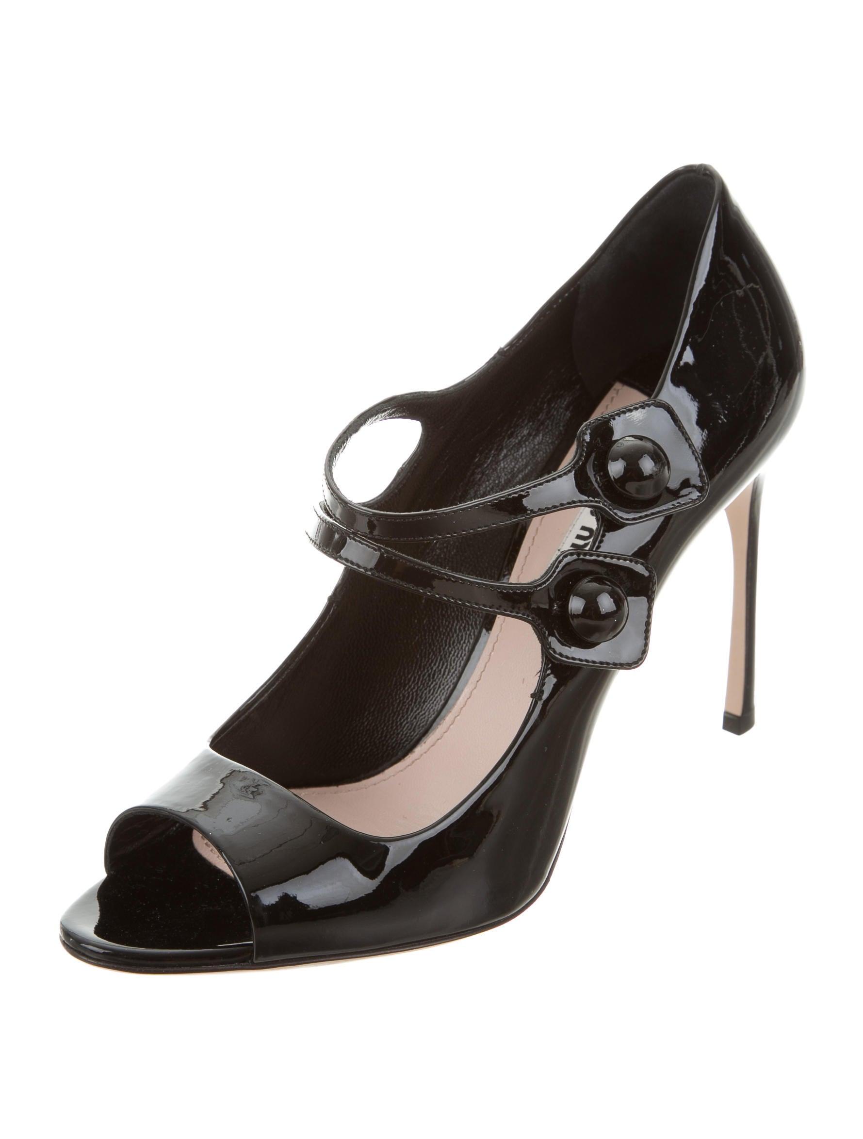 Miu Miu Patent Leather Mary Jane Pumps - Shoes - MIU50530   The RealReal