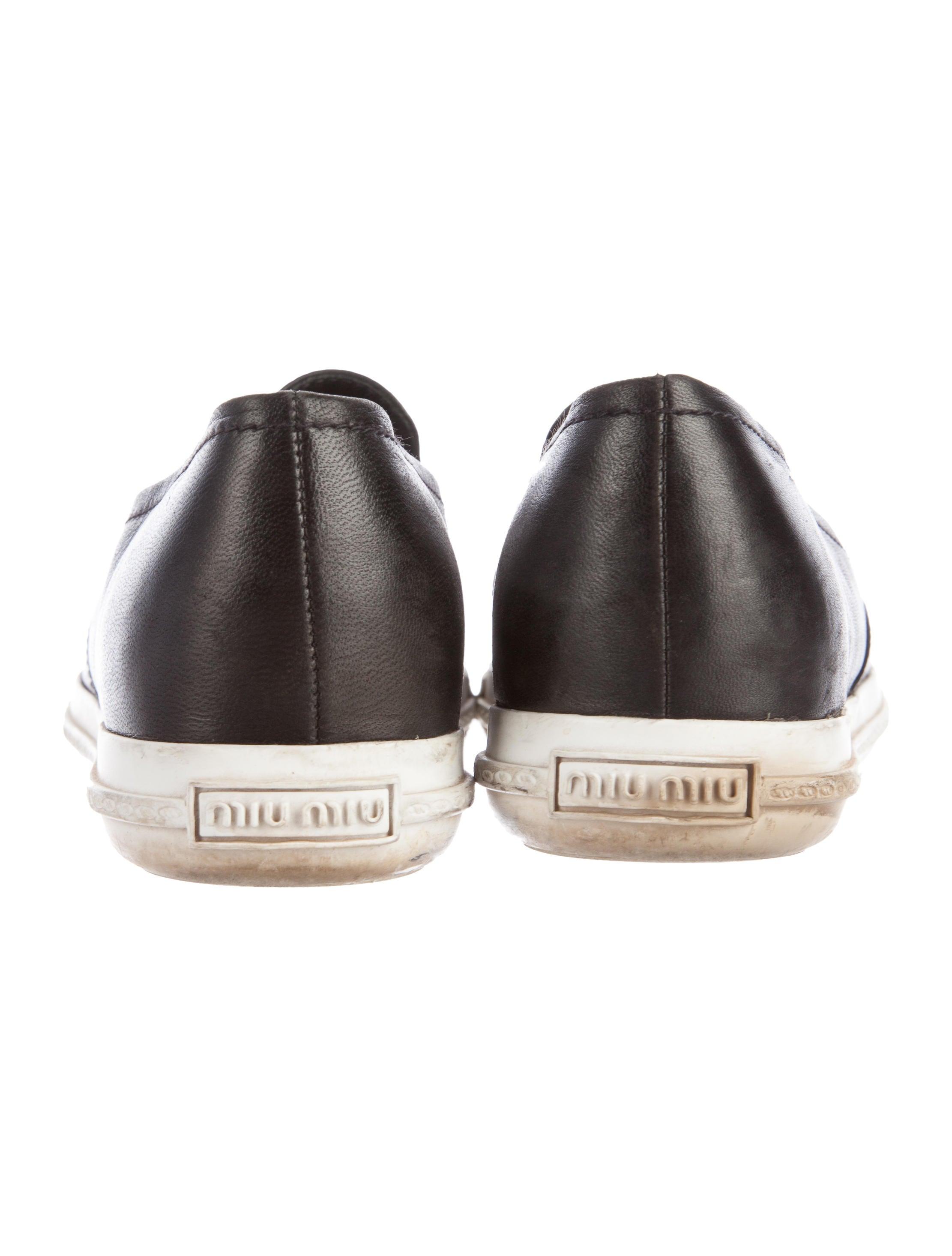 a80cc83557d Miu Miu Cap Toe Sneakers Black