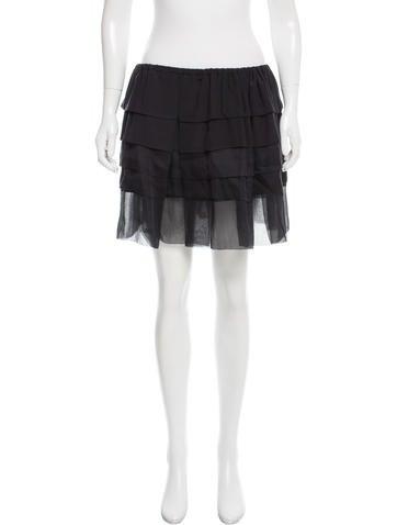 Miu Miu Silk Mini Skirt None