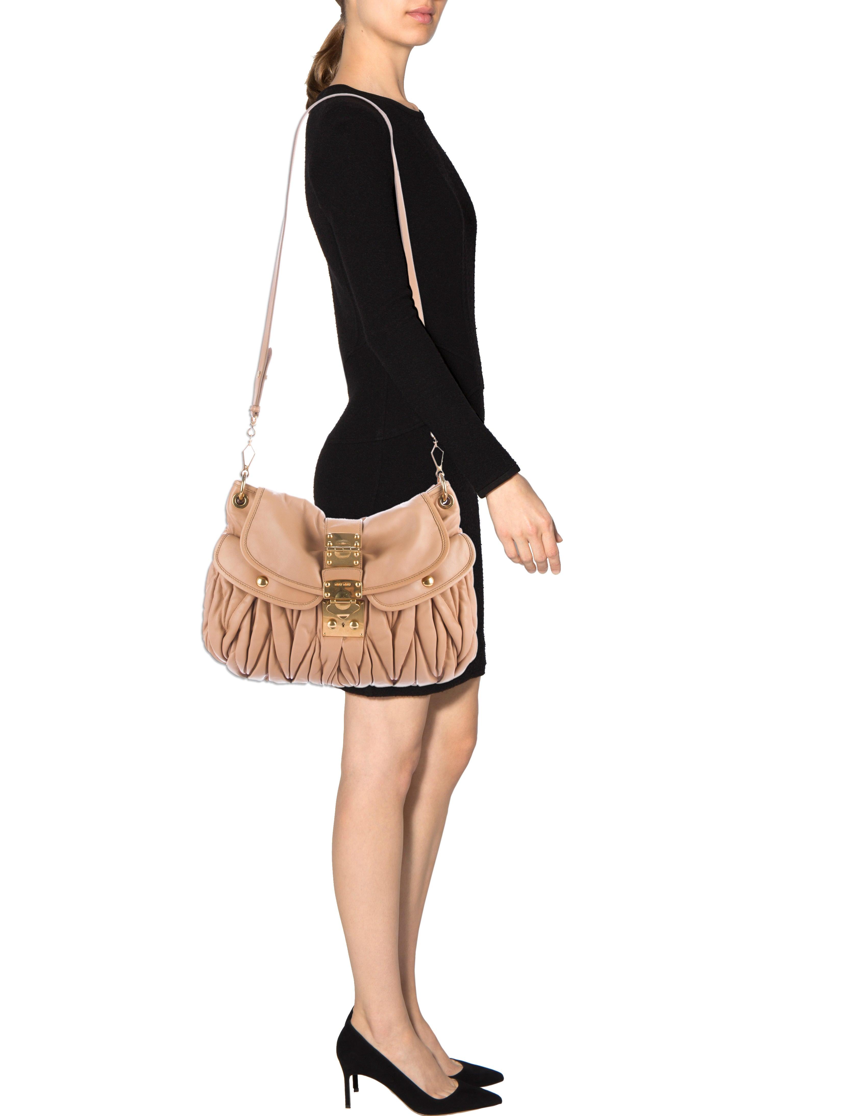 miu miu matelass coffer bag handbags miu51008 the realreal. Black Bedroom Furniture Sets. Home Design Ideas