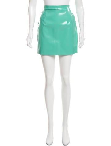 Miu Miu Glazed Mini Skirt None