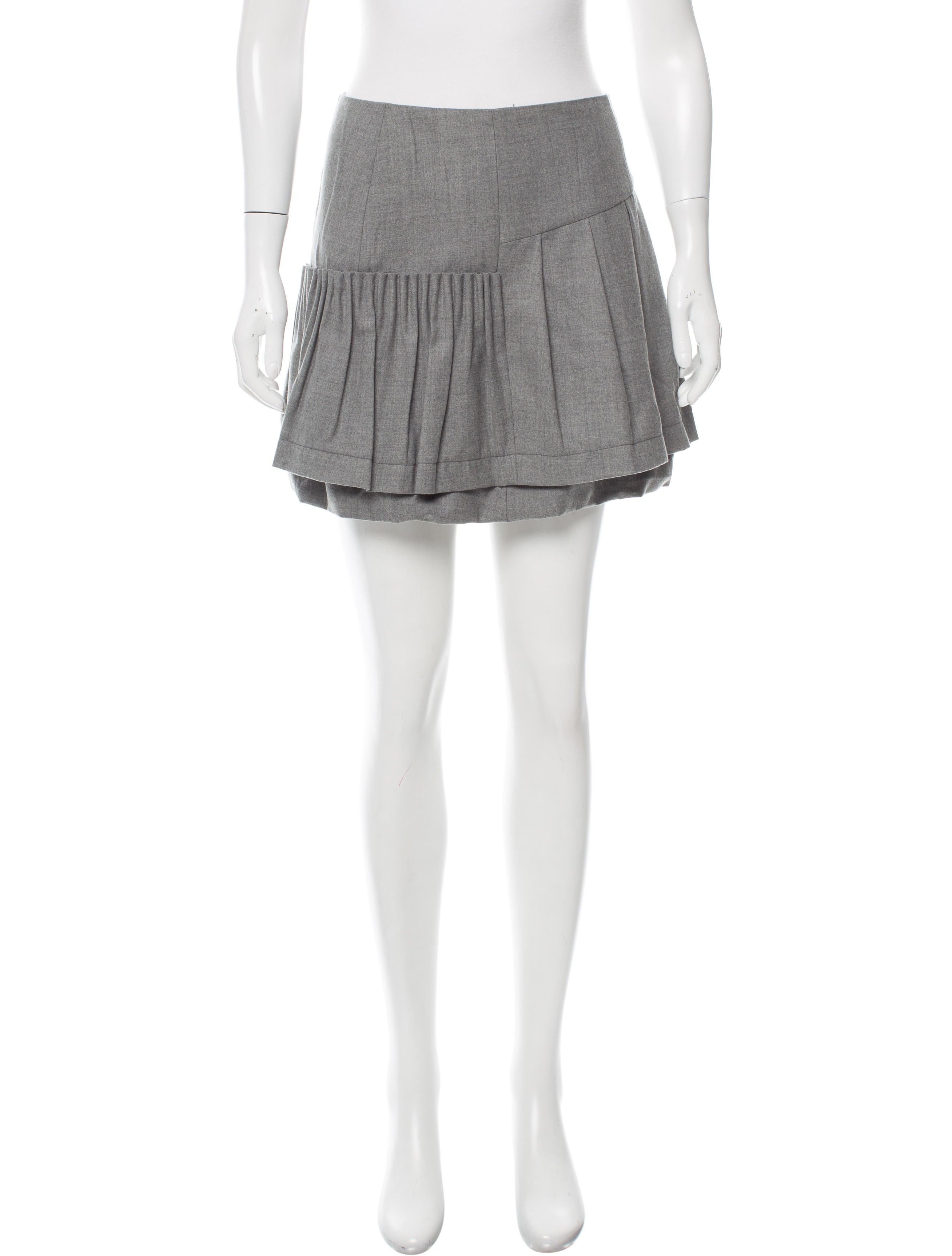 miu miu wool pleated skirt clothing miu51223 the