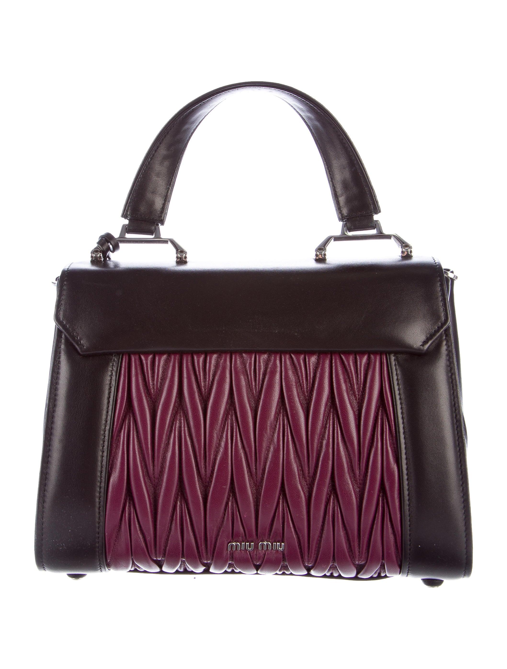 701c343b5e8e Miu Miu Soft Leather Matelasse Handbag - Handbags - MIU51242