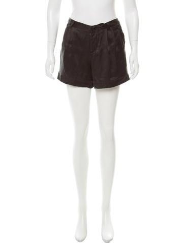 Miu Miu Silk Mini Shorts None
