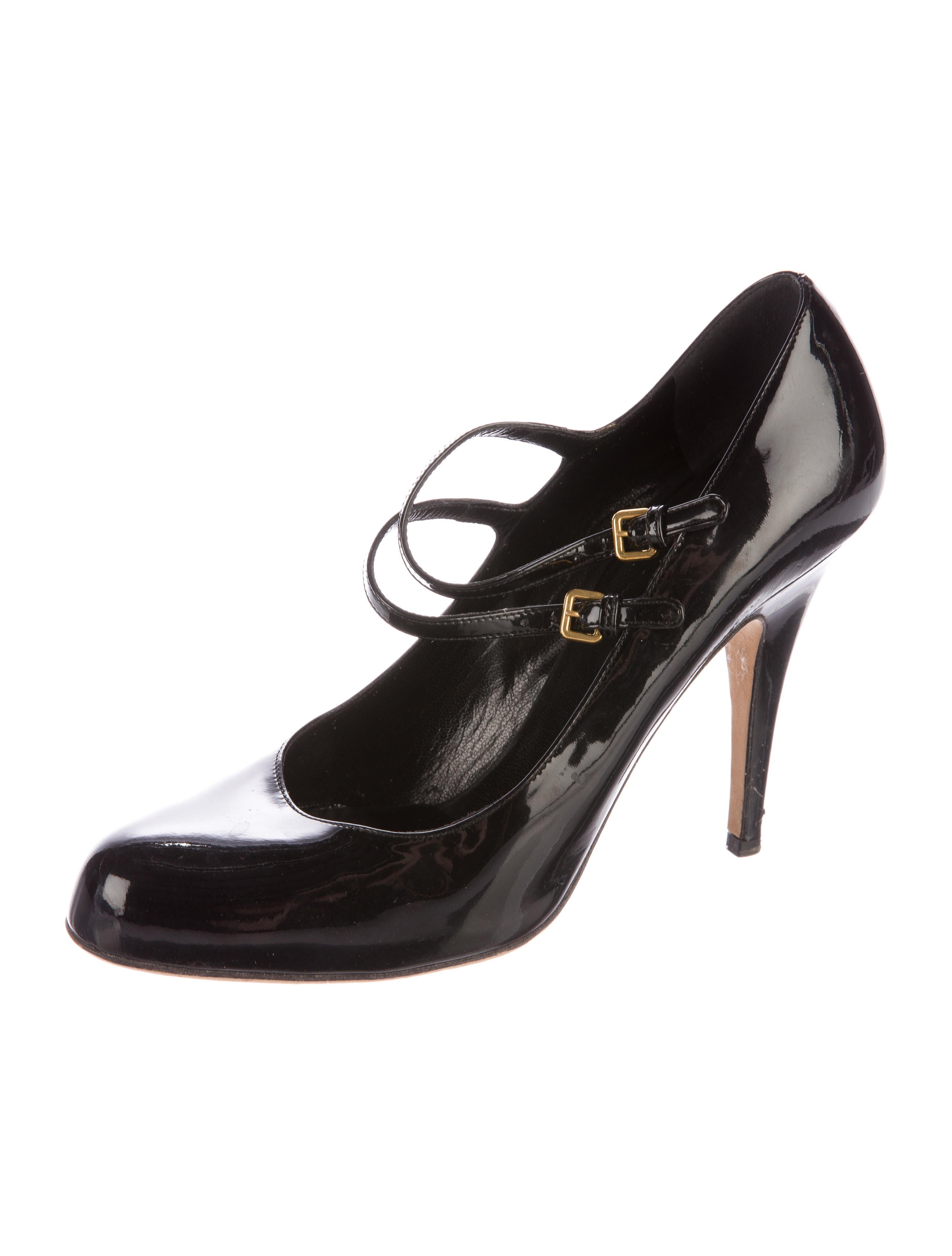 Miu Miu Patent Leather Mary Jane Pumps - Shoes - MIU51399   The RealReal