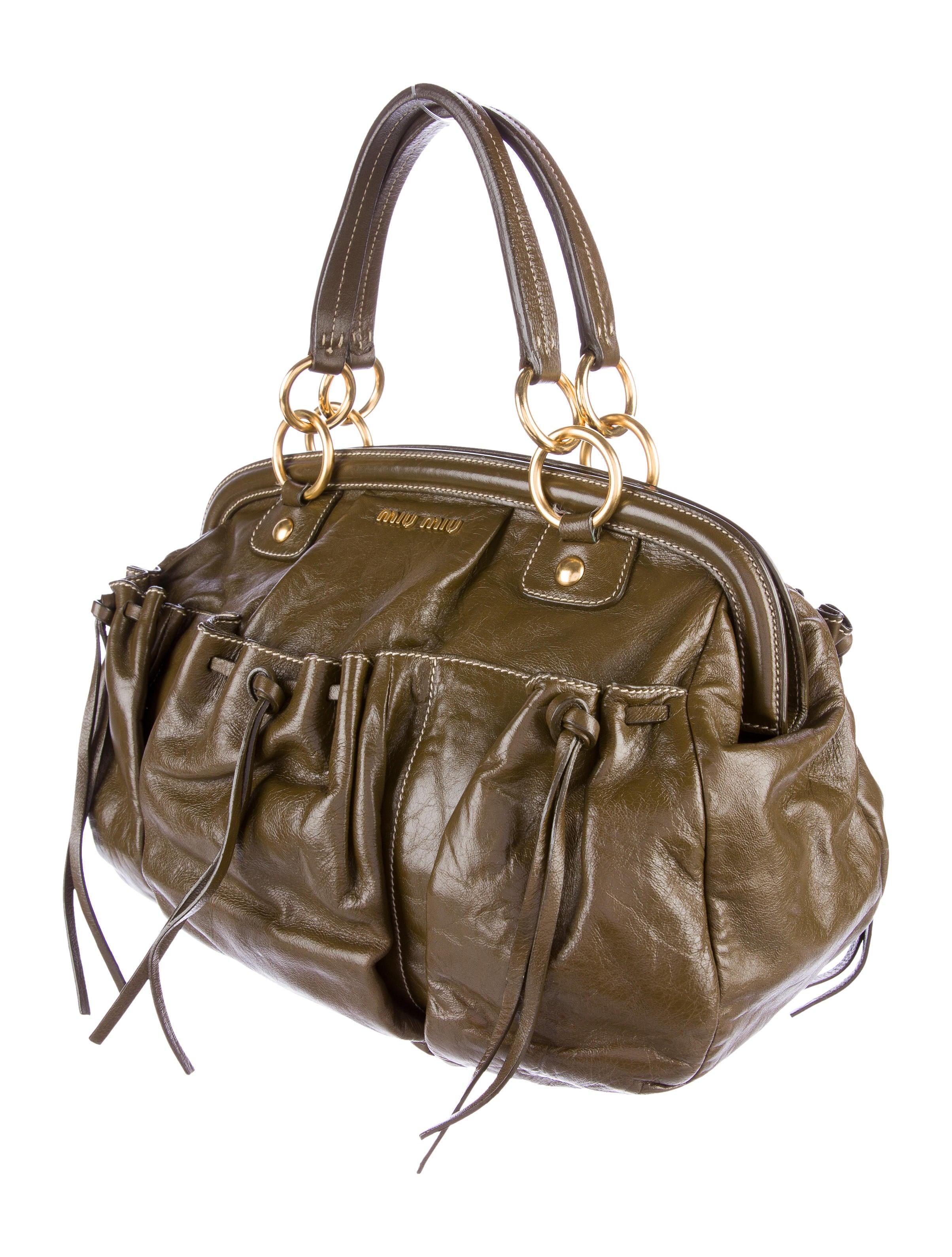 Miu Miu Leather Doctor Bag Handbags Miu51454 The