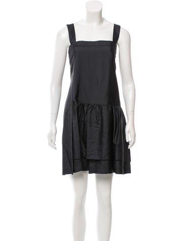Miu Miu Silk Mini Dress None