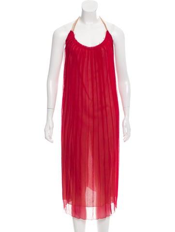 Miu Miu Silk Halter Dress None