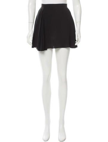 Miu Miu Silk Flared Skirt None