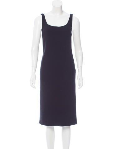 Miu Miu Wool Midi Dress None