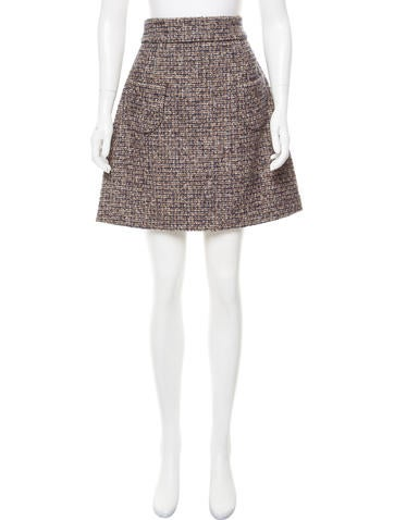 miu miu a line tweed skirt clothing miu51991 the