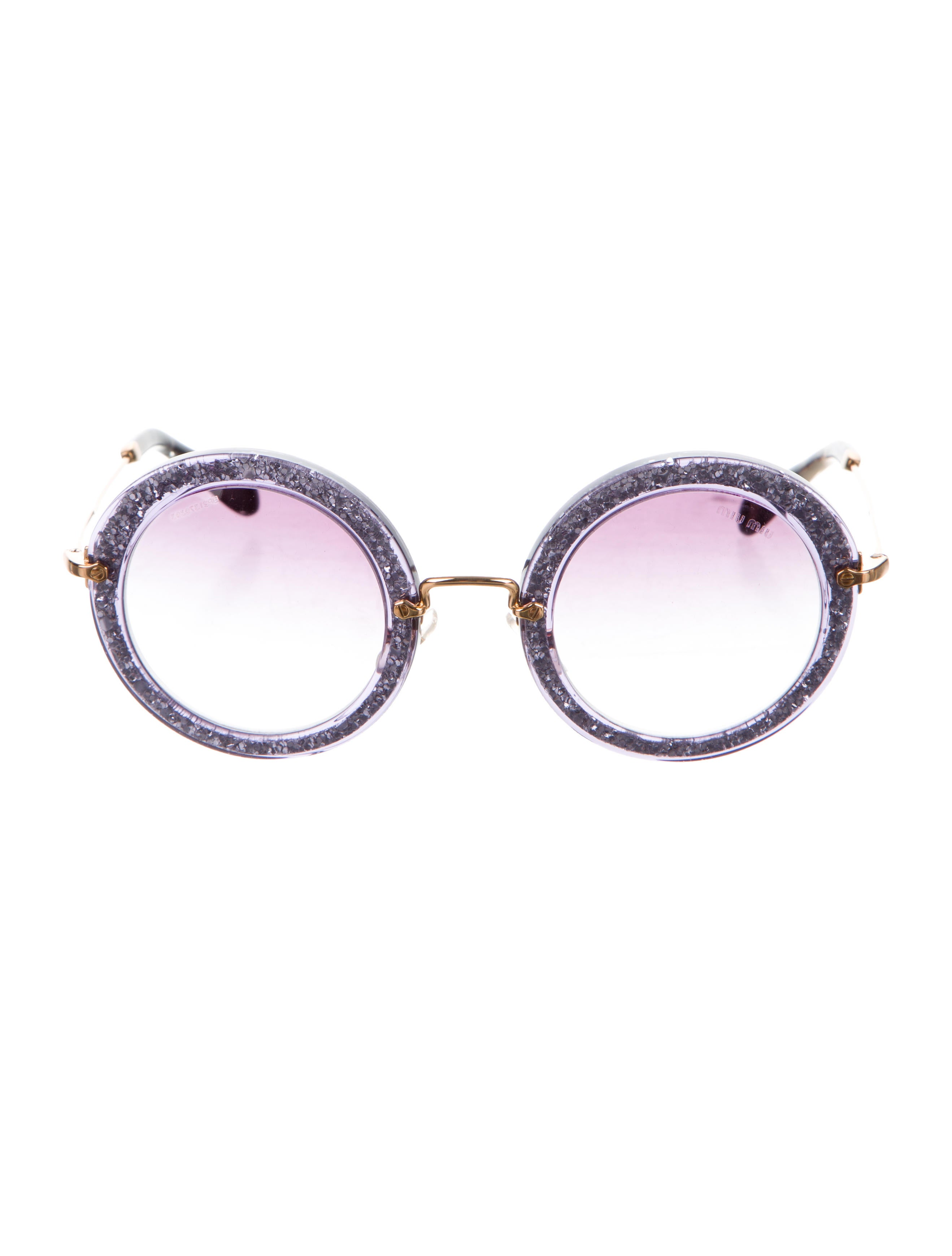 3f1eda3d8072 Miu Miu Glitter Noir Sunglasses - Accessories - MIU52020