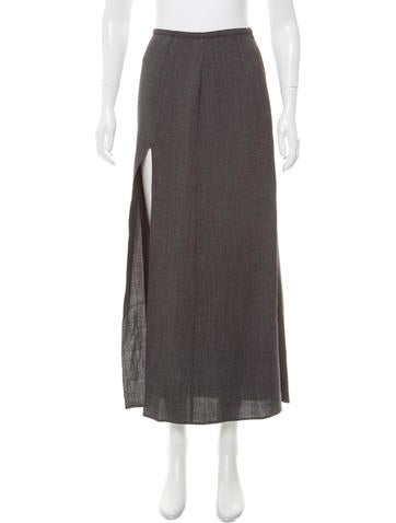 Miu Miu Wool-Blend Midi Skirt None
