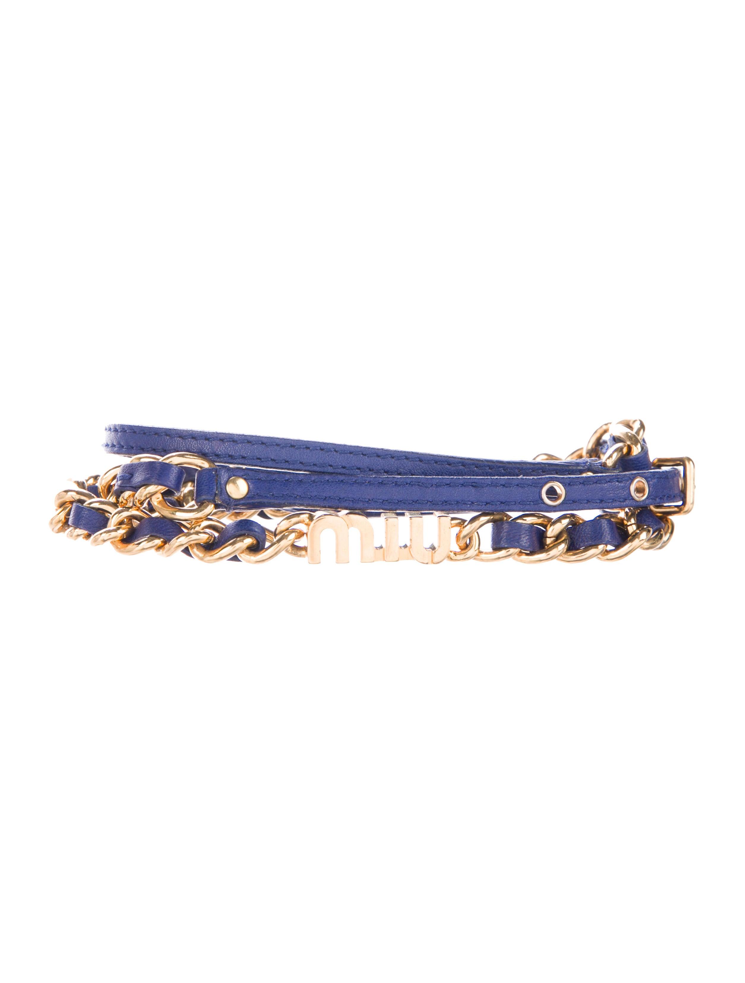 miu miu leather chain belt accessories miu52574 the