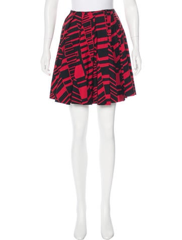 Miu Miu Printed Pleated Skirt None