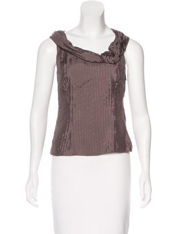 Miu Miu Sleeveless Pleated Top None