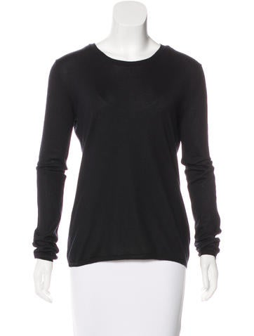 Miu Miu Long Sleeve Knit Top None