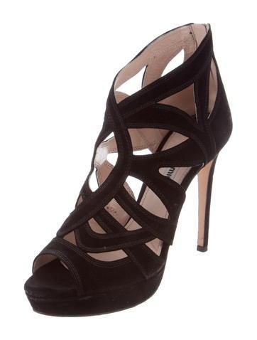 Miu Miu Cage Platform Sandals - Shoes
