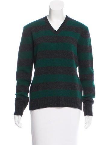 Miu Miu Striped Wool Sweater None