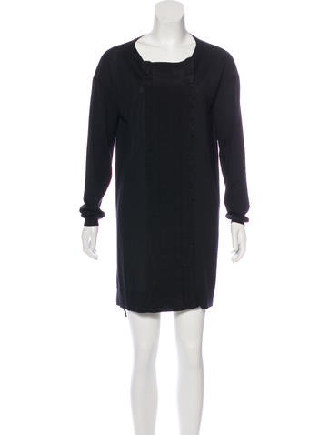 Miu Miu Wool & Silk-Blend Dress None