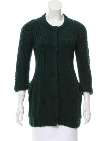 Miu Miu Rib Knit Button-Up Cardigan None