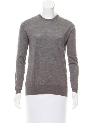 Miu Miu Lace-Accented Cashmere & Silk Sweater w/ Tags None