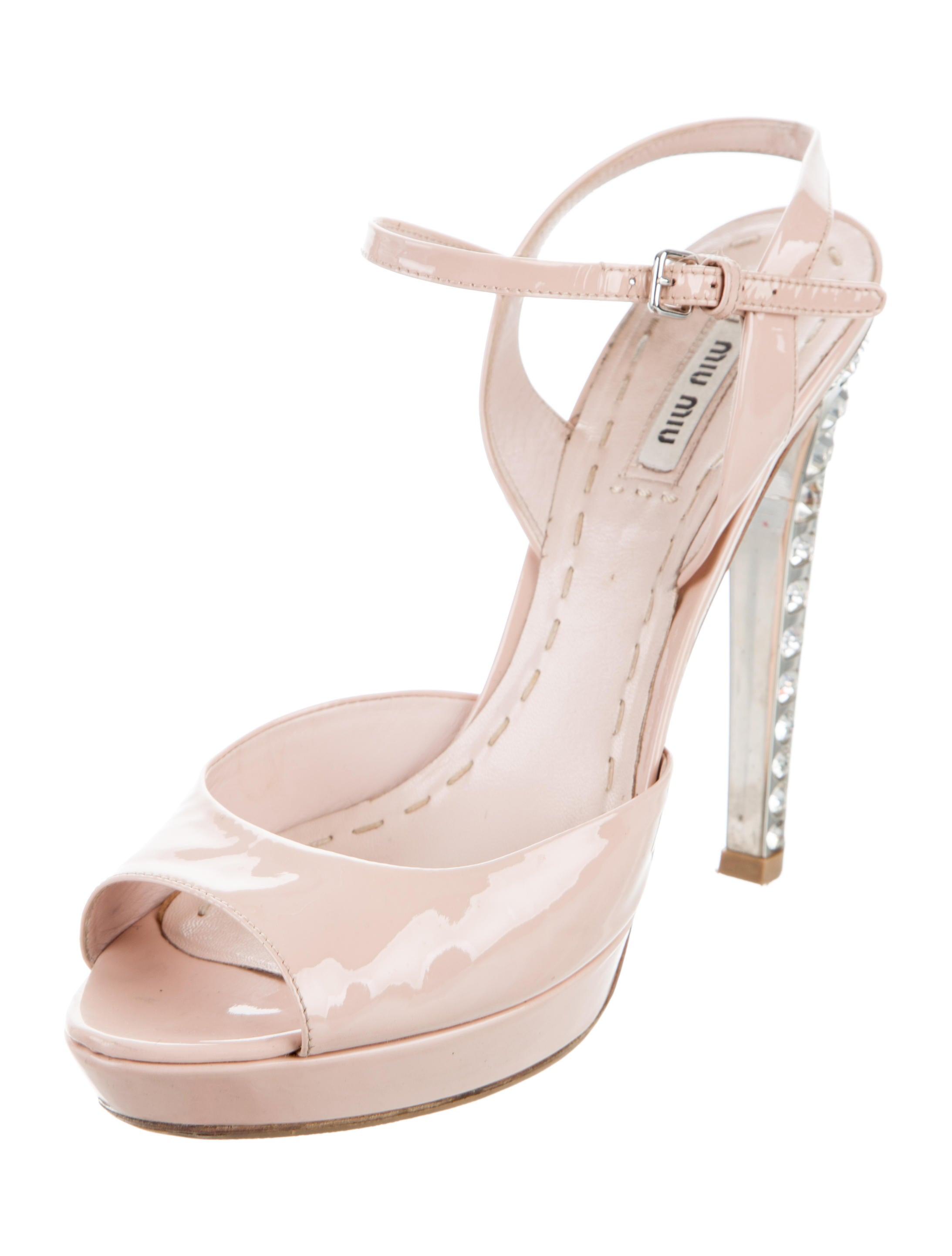 miu miu embellished platform sandals shoes miu53654